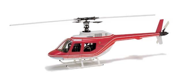 Hirobo 0412-908 30 Jet Ranger Body (Red)