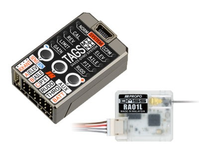 JR 02550 TAGS mini Triple Axis Gyro System with RA01L