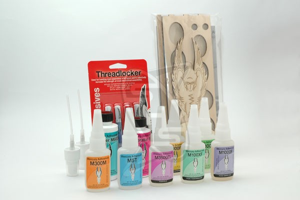 Mercury Adhesives Complete Set with Caddy