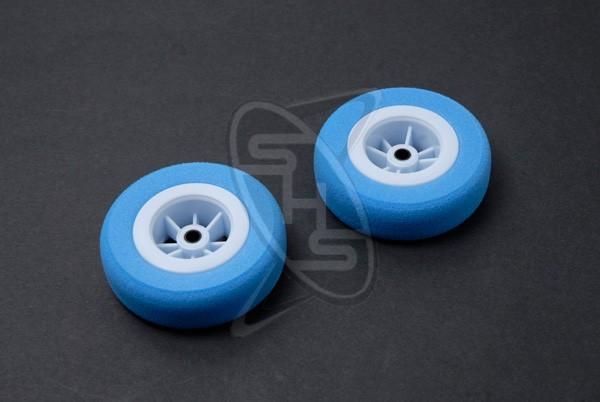 MK 0396 Sky Blue Superlight Tyres 60mm (2 pcs)