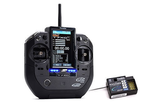 FUTABA 7XC 2.4Ghz 7-Channel Stick Type Transmitter with R334SBS x 2 Receiver