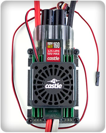 Castle Creations Phoenix Edge HVF 160 ESC with Cooling Fan