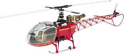 HIROBO 0412-930 30 Scale Lama SA-315B (Red)