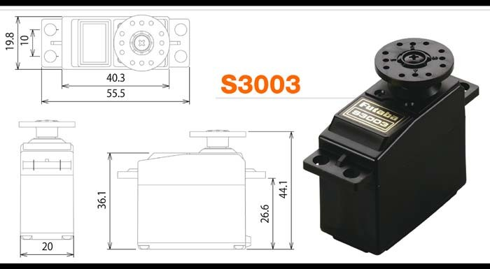S3003 REGULAR SERVO - STD TYPE - 3.2KG./