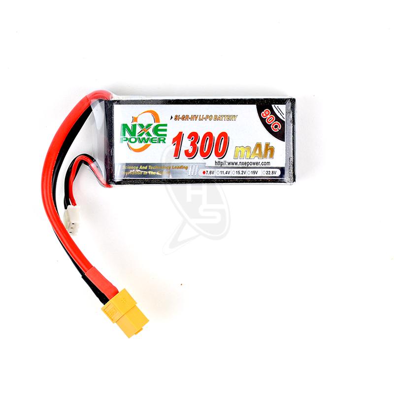 NXE 2-Cells 1300mAh 90C LiPo-XT60