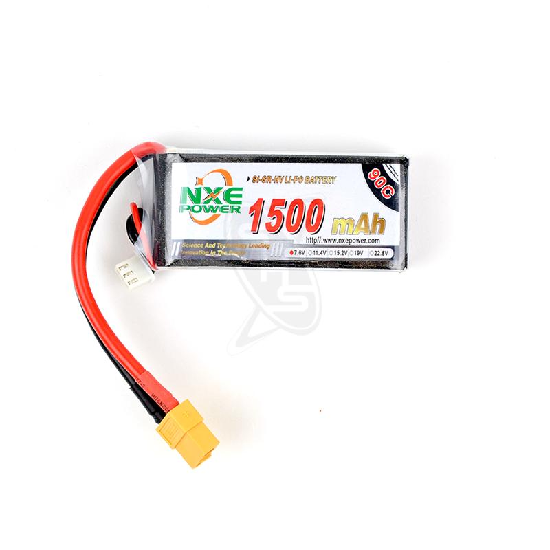 NXE 2-Cells 1500mAh 90C LiPo-XT60