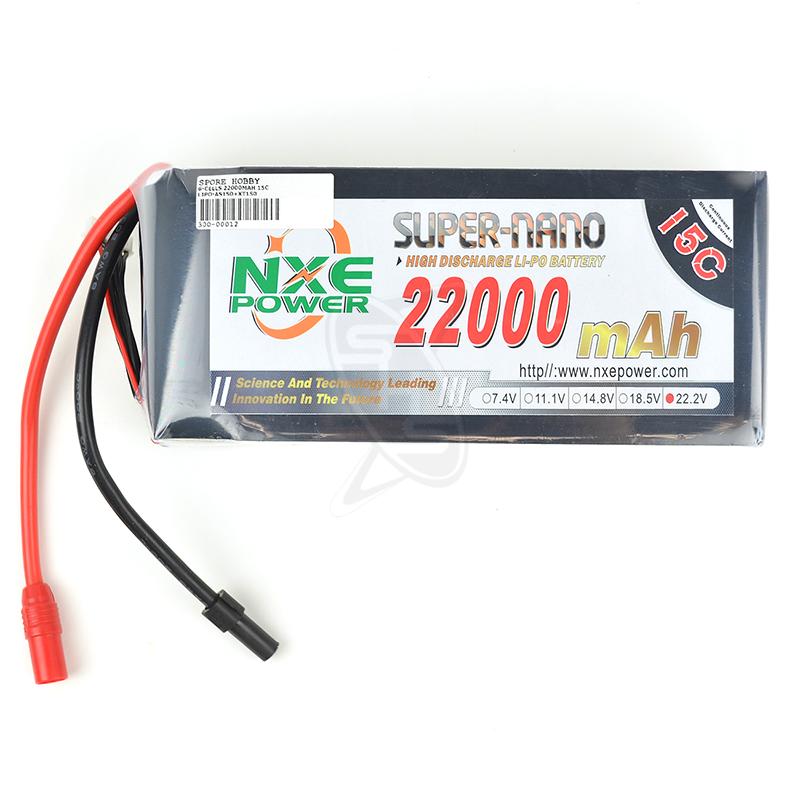 NXE 6-Cells 22000mAh 15C LiPo AS150+XT150
