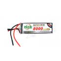 NXE 6-Cells 8000mAh 25C LiPo (No Plug)