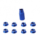 SINGAHOBBY Transmitter Screw Nuts for FUTABA / JR / FRSKY - Blue (8)