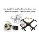 Gaui 330X-S Quad Flyer with One-Axis Camera Mount + Futaba 4YFG Radio Combo