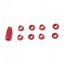 SINGAHOBBY Transmitter Screw Nuts for FUTABA / JR / FRSKY - Red (8)
