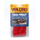 "Velcro One Wrap Strap 11"" Red - 90475"