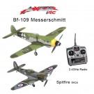 AXIONRC WWII Bundle (BF-109 Messerschmitt RTF and Spitfire L&F) w/ 1TX